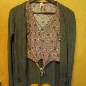 Crop top with cardigan-both smalls